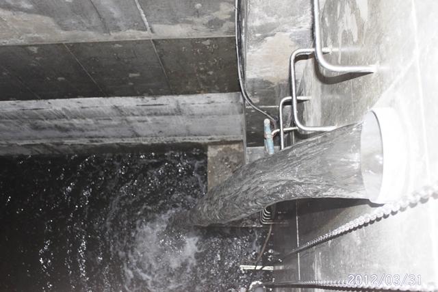 雨水貯留槽排水口