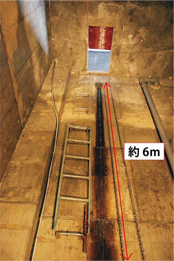 雨水貯留槽タラップ