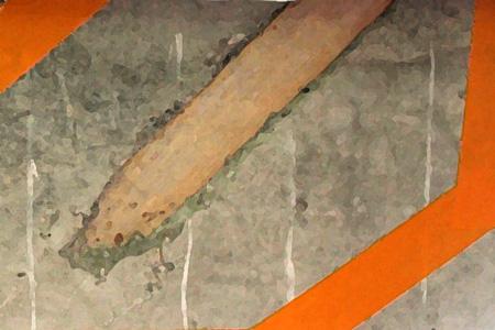 コンクリート内木片